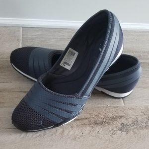 Dusty Blue womens Puma ballet flats/sneakers